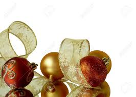 White Christmas Tree With Gold Decorations Corner Background Decorations Of Red And Gold Christmas Tree