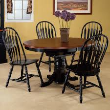 dining room table black black wood round dining table with leaf starrkingschool