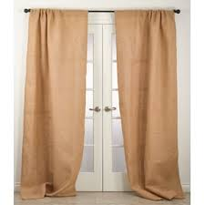Smocked Burlap Curtains Burlap Curtains You U0027ll Love Wayfair