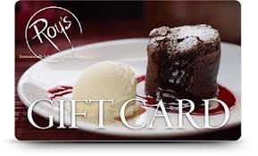 restaurants gift cards roy s restaurants gift card