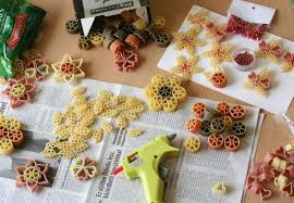diy decorations pasta different forms