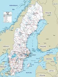 map of sweden large road map of sweden