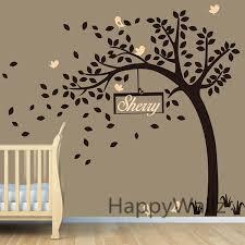 Nursery Room Tree Wall Decals Baby Nursery Tree Wall Sticker Diy Custom Name Tree Wall Decal