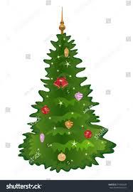 christmas treeisolated christmas tree lights decorations stock