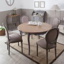 table avec 4 chaises table à manger à rallonge ronde en bois l120cm avec 4 chaises