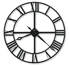 reiss oversized 38 xxl wall clockblack wrought iron clocks clock