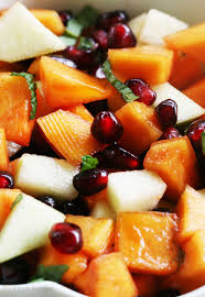 fruit salads for thanksgiving persimmon pomegranate fruit salad recipe simplyrecipes com