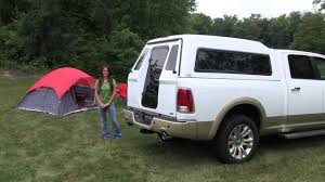 nissan frontier camper shell full walk in door a r e truck caps and tonneau covers youtube