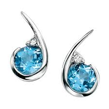 blue topaz earrings blue topaz earrings