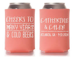 wedding koozie best 25 wedding koozies ideas on personalized wedding