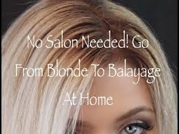creating roots on blonde hair create the perfect balayage shadow root at home youtube