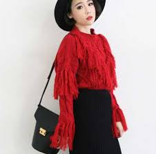 black fringe sweater fringe sweater for plain pullover knit sweaters for