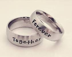 wedding rings his and hers his and hers rings etsy