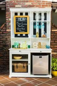 upcycle a hutch into an outdoor bar and buffet hgtv