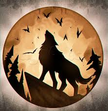 how to draw a howling halloween moon step by step halloween