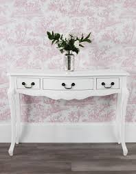 juliette white console table stunning shabby chic hallway table