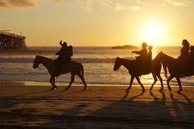 horseback riding at sunset rosarito beach mexico the places i