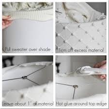 diy lampshade tutorial using a sweater unskinny boppy