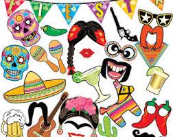 printable hippie photo booth props printable cinco de mayo photo booth props mexican fiesta photo