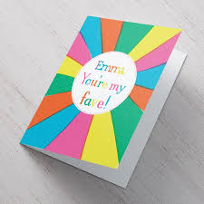 personalised congratulations card fave rainbow from 99p