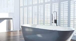 bathroom plantation shutters wooden bathroom window shutters