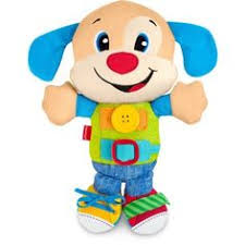 fisher price lil laugh and learn plush puppy lb4 musical crib toy
