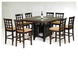 mission 7 piece counter height dining set with cappuccino finish