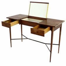 fascinating wooden material usage in elegant mid century dressing