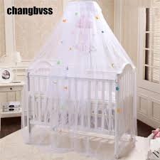 wholesale princess style round dome baby bed curtain fine mesh
