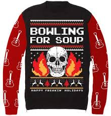 sweater t shirt bowling for soup freakin holidays sweater