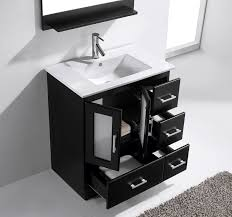 Unique Modern Bathroom Vanities Single Sink Vanity Ideas N Inside - Black bathroom vanity and sink