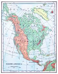 North America Wall Map by North America Political Map Political Map Of North America