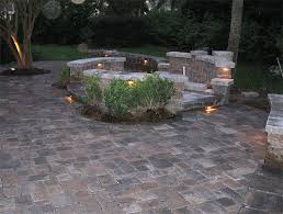 Patio Paver Lights Hardscape Package 4 Brick Paver Patio Pergola Firepit