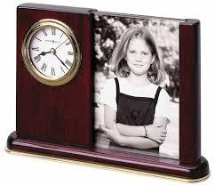 Desk Picture Frame Howard Miller 645 498 Portrait Caddy Photo Desk Clock