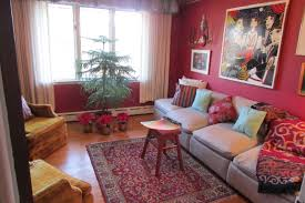 best solutions of burgundy and brown living room home design