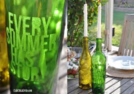 Upcycled Wine Bottles - glass etched upcycled wine bottle candles club chica circle