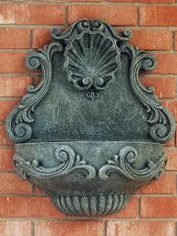 tuscany shell hanging wall fountain garden fountains u0026 outdoor decor