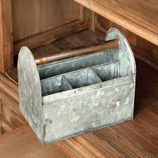 furniture antique style galvanized tin silverware utensil caddy ideas