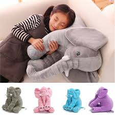 baby children kids soft plush elephant sleep pillow kids lumbar