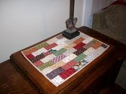 scraps quilting miniature quilt table topper