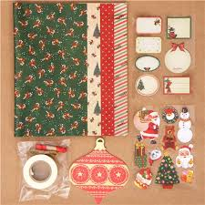 christmas wrapping paper sets green christmas gift wrapping paper kit from japan other