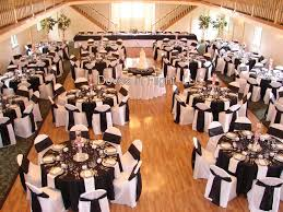 black and white chair covers white chair covers black sash black linen white napkin looks