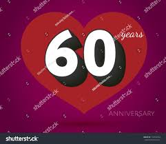 60 years birthday 60 years birthday card stock vector 176750354