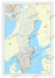 Map Sweden Postcode Map Sweden European Countries U0026 China Postcode Maps