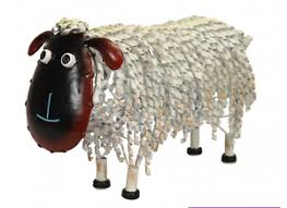 white metal sheep garden ornaments metal animal garden