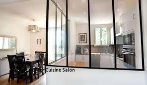 cloison cuisine salon ouverture mur en prix with cloison vitree pour cuisine fermee