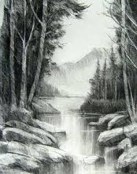 drawing landscapes with pencil sketches u0026 pencil drawings