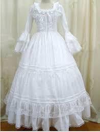 white long sleeve victorian dresses snow white princess gothic