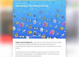 apple launches new u0027this weekend only u0027 app store deals feature