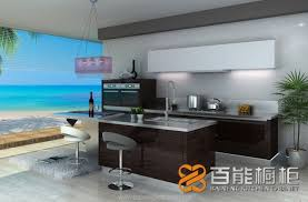 Veneer Kitchen Cabinets by Wood Veneer Lacquer Series No 8 Baineng Kitchen Cabinet